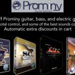 Prominy製品が最大50%のセール中!【ギター/ベース/ピアノ音源】